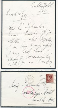 Autograph Letter Signed. William George Edward BROWNLOW, 4th Baronet Brownlow