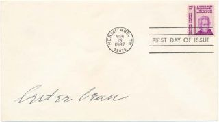 Signed First Day Cover. Lester BEALL
