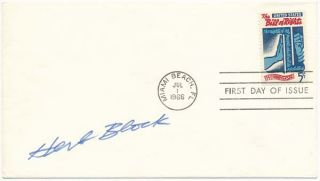 Signed First Day Cover. Herbert L. BLOCK