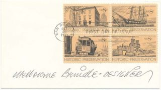 Signed First Day Cover. Melbourne BRINDLE