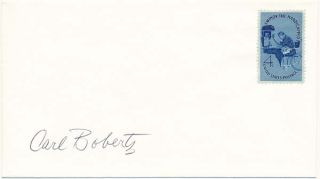 Signed Postal Cover / Typed Letter Signed. Carl BOBERTZ