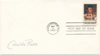 Signed First Day Cover. Crimilda PONTES
