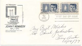 "Signed First Day Cover. Lawrence J. ""Larry"" ARATA"
