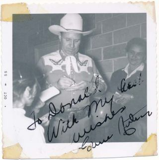 Inscribed Photograph Signed. Gene AUTRY