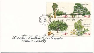 Signed First Day Cover. Walter DuBois RICHARDS
