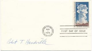 Signed First Day Cover. Robert T. HANDVILLE