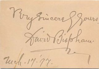 Signature and Inscription. David BISPHAM
