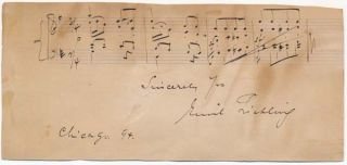 Autograph Musical Quotation Signed. Emil LIEBLING