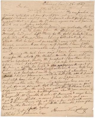 Autograph Letter Signed. Harmon KINGSBURY, 1826?-1868