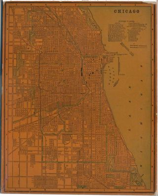 Chicago. ILLINOIS -- Map CHICAGO
