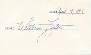 Signature. William CARTER