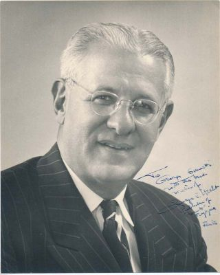Typed Note Signed / Inscribed Photograph Signed. George J. HECHT