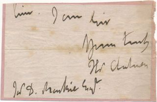 Signature and Salutation. Thomas CHALMERS