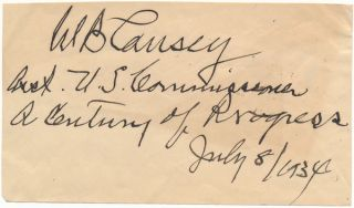 Signature and Title. W. B. CAUSEY