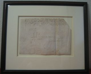 Document Signed. CHARLES IX