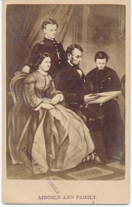 Lincoln and Family. Abraham -- CARTE-DE-VISITE LINCOLN