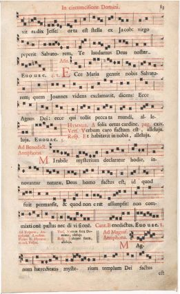 In circumcisione Domini. ANTIPHONAL LEAF -- 18th Century