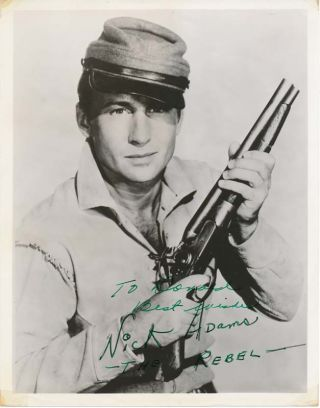 Inscribed Photograph Signed. Nick ADAMS
