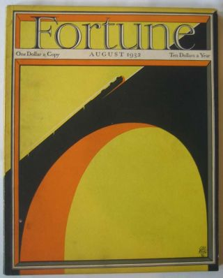 Fortune (Vol. VI, No. 2, August 1932). Henry R. LUCE