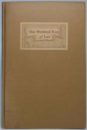 One Hundred Years of Law: An Account of the Law Office Which John T. Stuart Founded in...