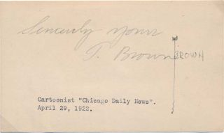 "Signature. Edward Scott ""Ted"" BROWN"