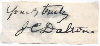 Signature and Salutation. John Call DALTON