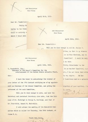 Collection of 7 Typed Letters Signed. EQUITABLE LIFE ASSURANCE SOCIETY OF THE UNITED STATES,...