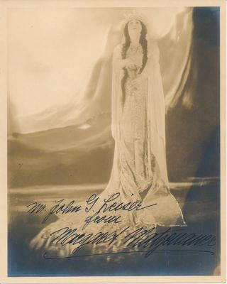 Inscribed Photograph Signed. Margaret MATZENAUER.