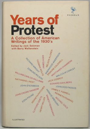 Years of Protest: A Collection of American Writings from the 1930's. Jack SALZMAN, Barry...