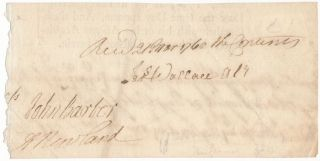 Autograph Document Signed. Abraham NEWLAND