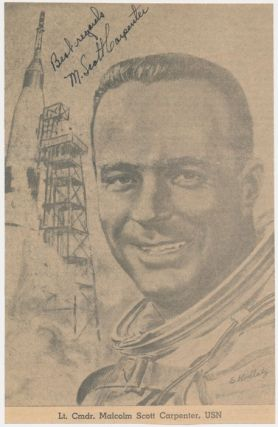 Inscribed Photograph Signed. M. Scott CARPENTER