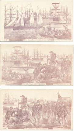 """Collection of """"U.S. Naval Expedition"""" Patriotic Envelopes."""