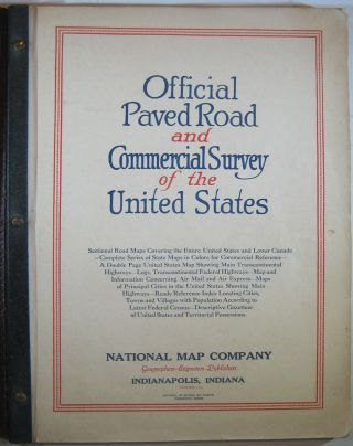 Official Paved Road and Commercial Survey of the United States