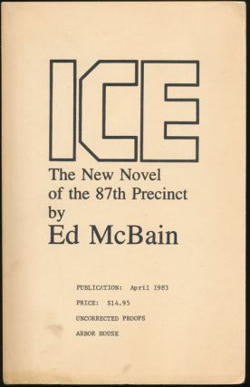 Ice: The New Novel of the 87th Precinct. Ed McBAIN