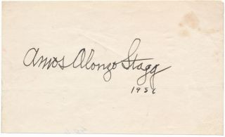 Signature. Amos Alonzo STAGG
