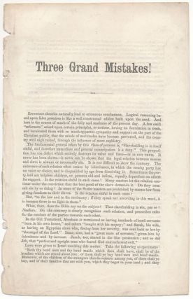 Three Grand Mistakes!