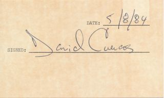 Signature. David CUEVAS