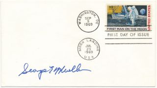 Signed First Day Cover. George E. MUELLER