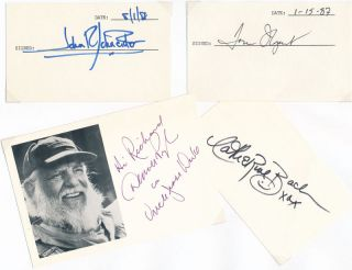 Signatures of Four Primary Cast. DUKES OF HAZZARD