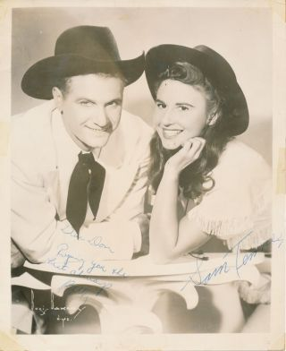 Inscribed Photograph Signed. Sam TENNER, Betty TENNER