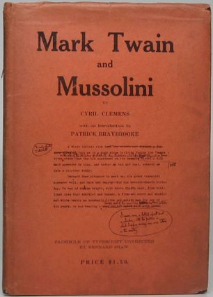 Mark Twain and Mussolini. Cyril CLEMENS