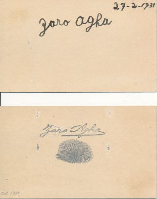 Signature. Zaro AGHA, 1774 or 76 or 77?-1934