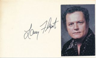 Signature. Larry FLYNT