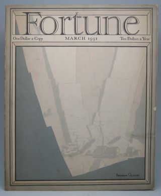 Fortune (Vol. 3, No. 3, March 1931). Henry R. LUCE