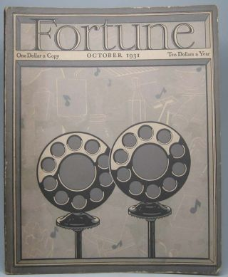 Fortune (Vol. 4, No. 4, October 1931). Henry R. LUCE