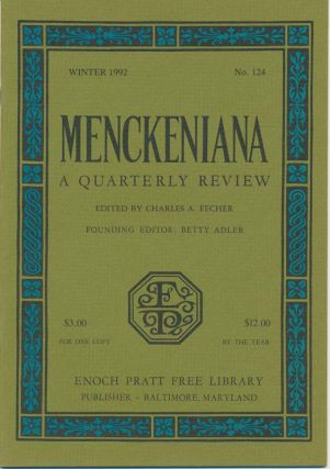 Menckeniana: A Quarterly Review.